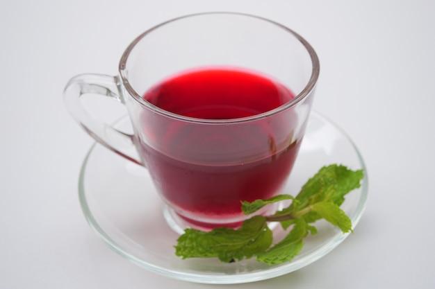 Fresh roselle juice (healthy drink) Premium Photo