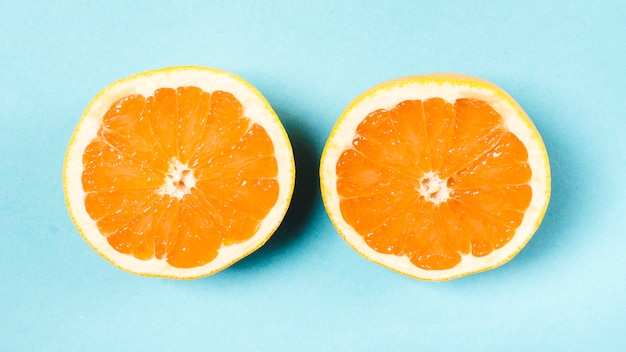 Fresh sliced orange on light background Free Photo