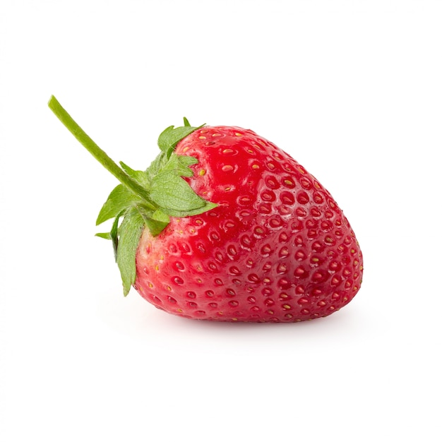 Fresh strawberries isolated over a white background Premium Photo