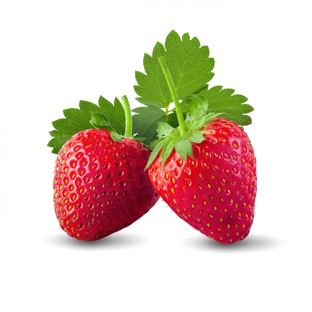 Fresh strawberries isolated Premium Photo