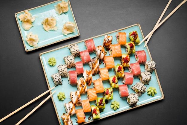 Свежий вид сверху суши Бесплатные Фотографии