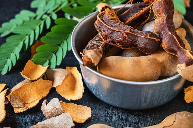 Fresh tamarind, health benefits Premium Photo