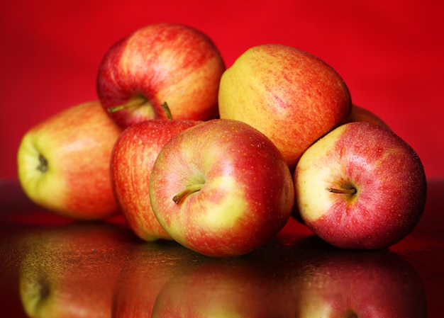 Fresh and tasty apples Free Photo