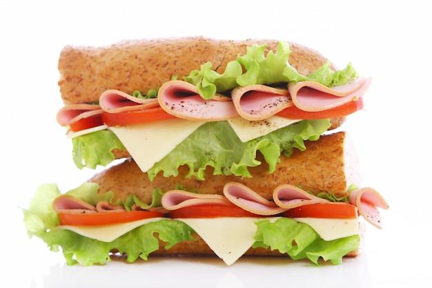 Fresh and tasty sandwich Free Photo
