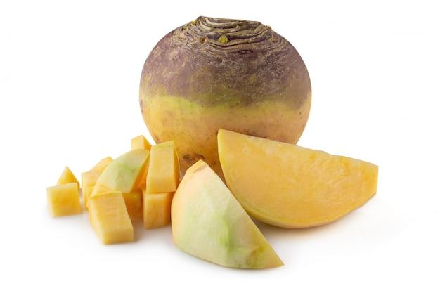 Fresh turnip swede isolated Premium Photo