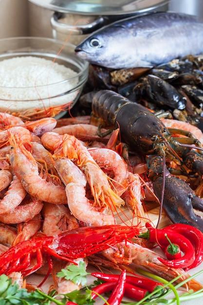 Свежие сырые морепродукты Бесплатные Фотографии