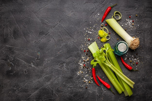 Fresh vegetable ingredients Premium Photo