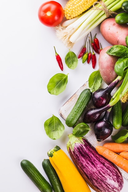 Fresh vegetables and herbs Free Photo