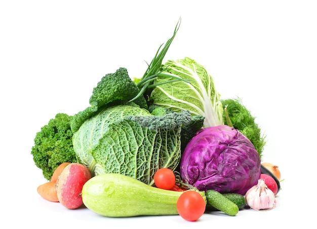 トマトとキャベツの新鮮な野菜 Premium写真