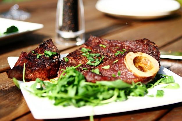Fresh and very tasty steak Free Photo