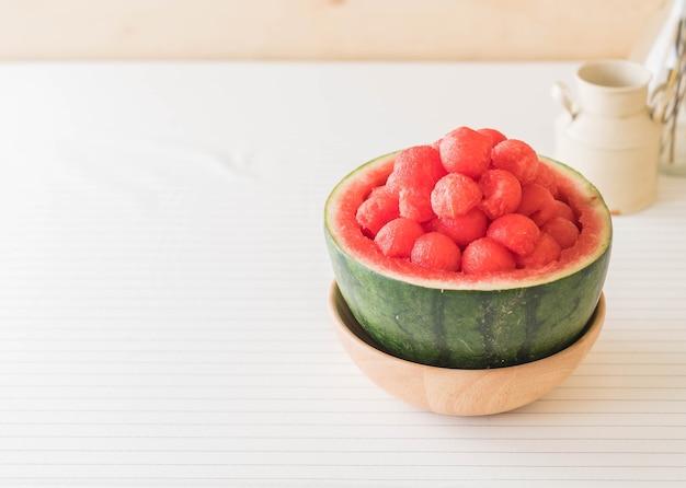 Fresh watermelon on table Premium Photo