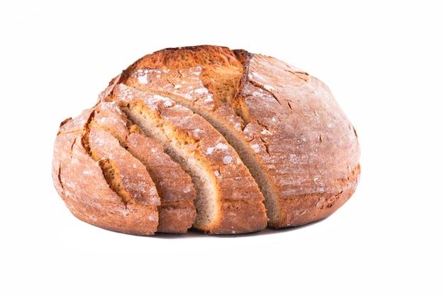 Freshly baked bread on a white background Premium Photo