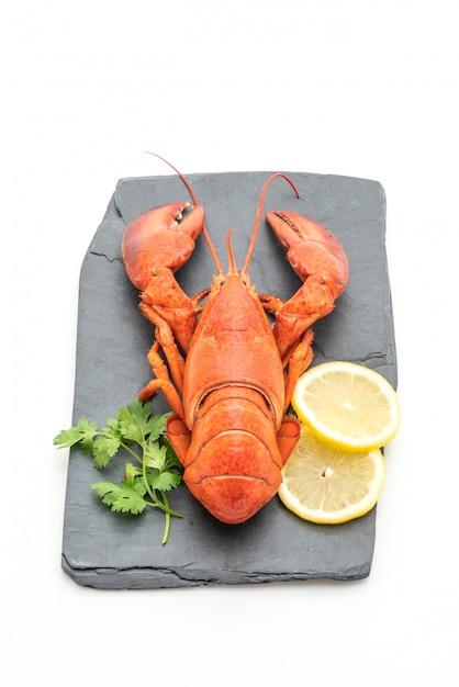 Freshly boiled lobster on slate plate Premium Photo
