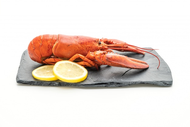 Freshly boiled lobster on slate plate Premium Photo