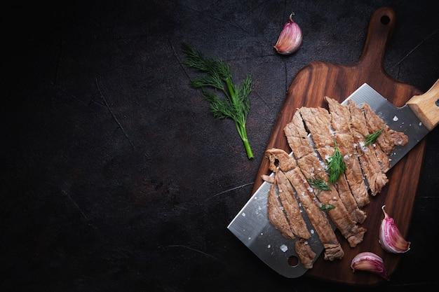 갓 잘라 고기 무료 사진