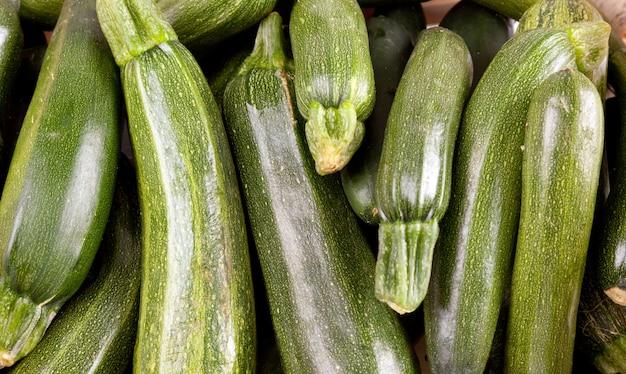 Freshly picked zucchin Premium Photo