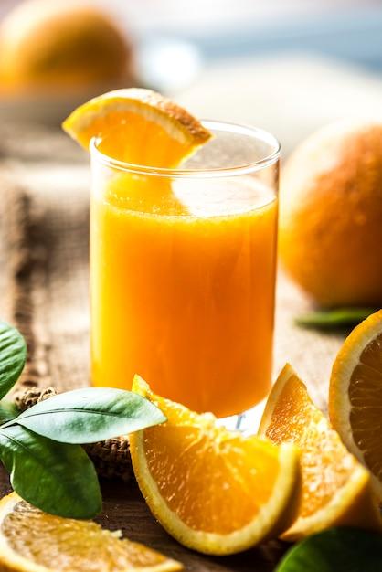 Freshly squeezed organic orange juice Free Photo