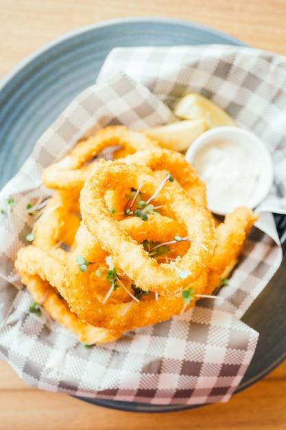 Fried calamari ring Free Photo