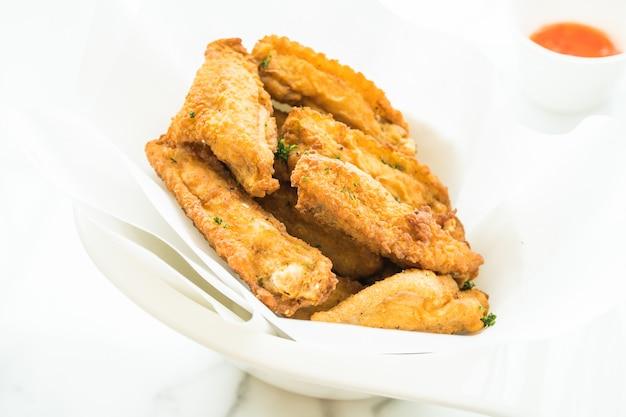 Fried crispy chicken wing Free Photo