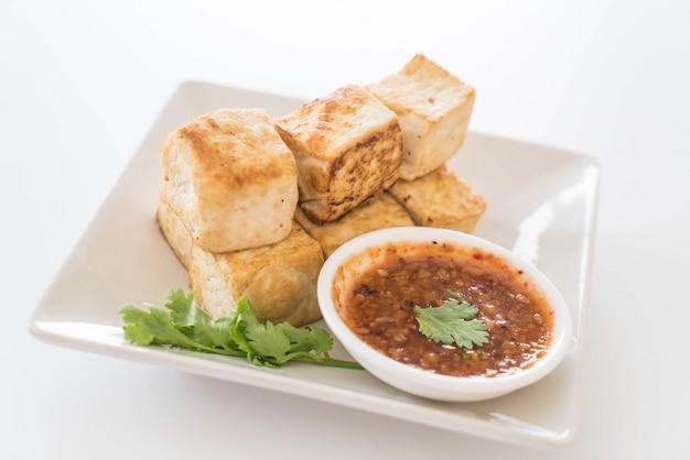 Fried tofu - healthy food Free Photo