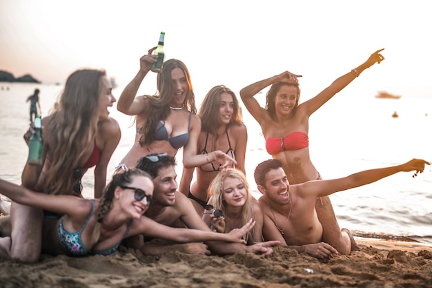 Friends on a vacation Premium Photo