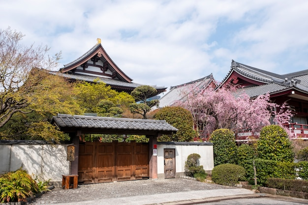 Front of temple in japanese style Free Photo