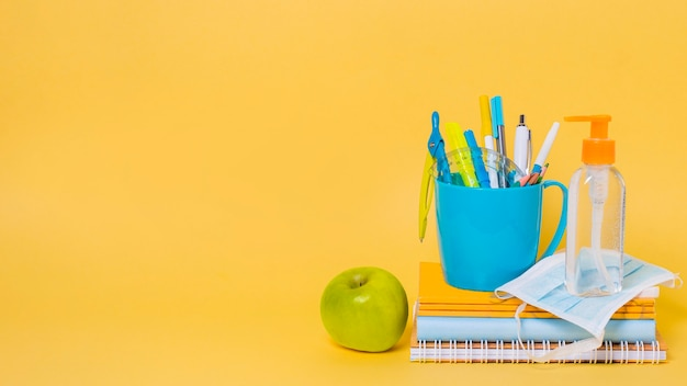 Front view of back to school concept Premium Photo