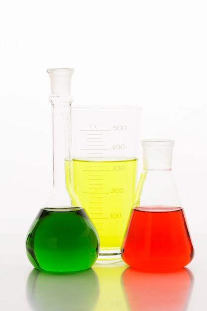 실험실에서 전면보기 화학 성분 무료 사진