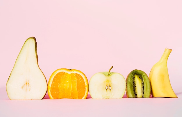 Front view collection of organic fruits Free Photo