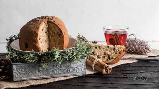 Вид спереди вкусная рождественская еда Бесплатные Фотографии