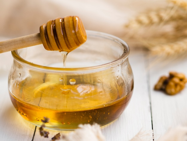 Front view of delicious honey Free Photo