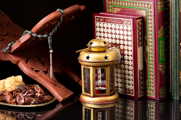正面のイスラムのお祝い要素 Premium写真