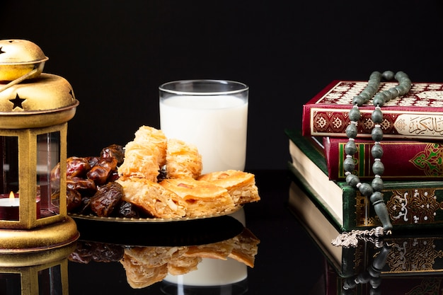 正面イスラム式お祝いテーブル 無料写真
