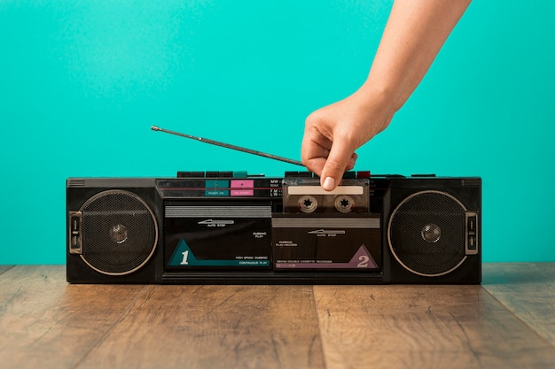 Минималистичная винтажная кассета, вид спереди Бесплатные Фотографии
