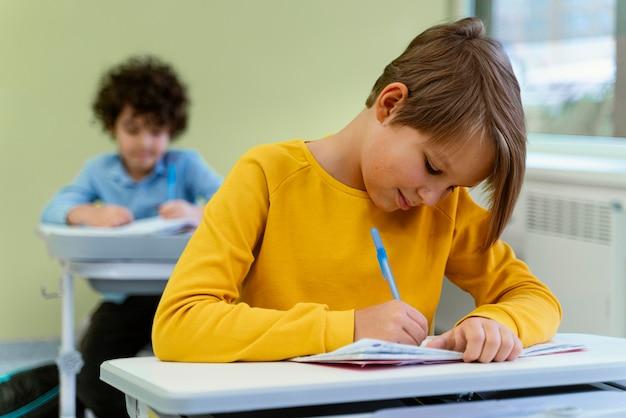 学校のクラスの子供たちの正面図 無料写真
