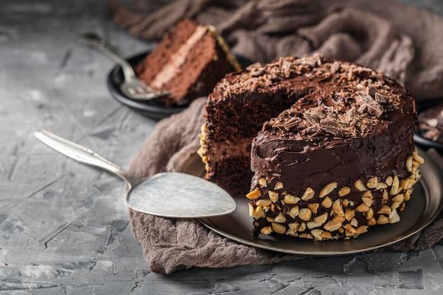 おいしいケーキのコンセプトの正面図 無料写真