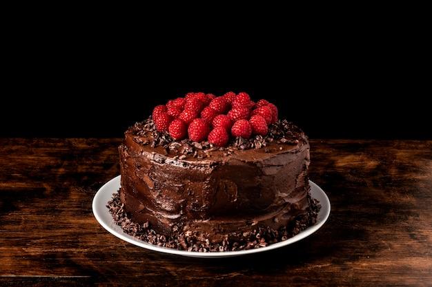 Вид спереди концепции вкусного шоколадного торта Бесплатные Фотографии