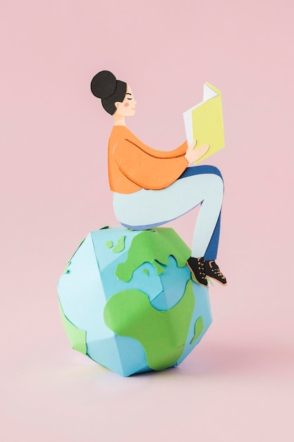 教育の日の概念の正面図 無料写真