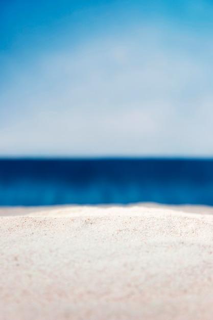 空の多重ビーチの正面図 Premium写真