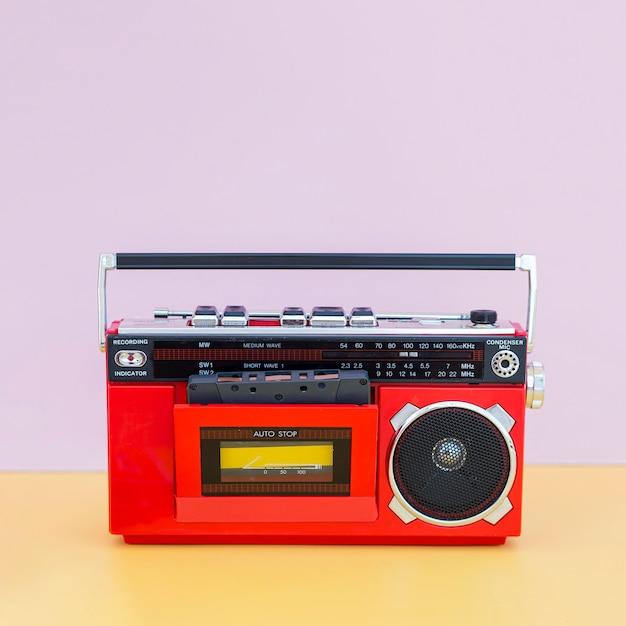 Вид спереди музыкальной концепции с радио Бесплатные Фотографии