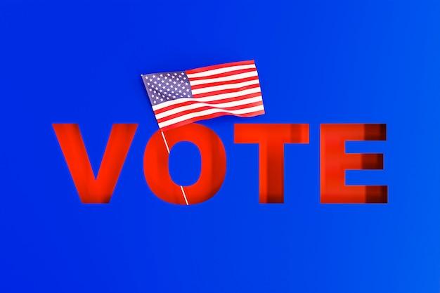 Вид спереди концепции выборов в сша Бесплатные Фотографии