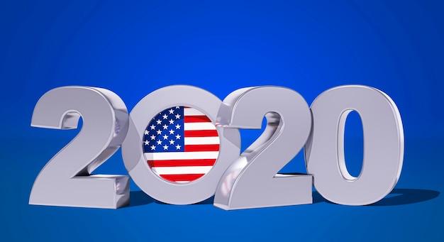 アメリカの選挙の概念の正面図 無料写真