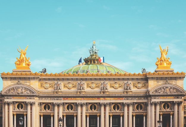 Front view of the old garnier opera house in paris Premium Photo