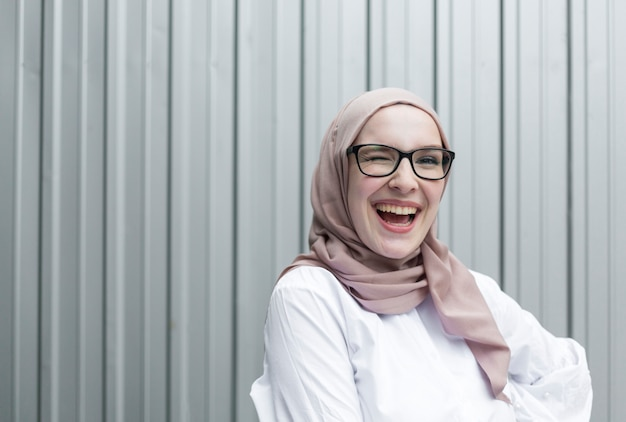 Front view of smiling woman Premium Photo