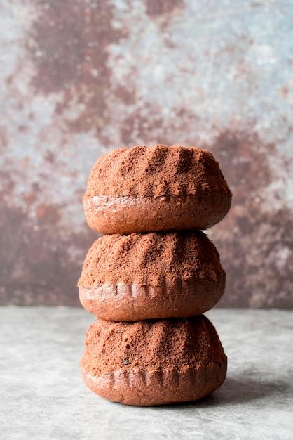 Башня шоколадных тортов, вид спереди Бесплатные Фотографии
