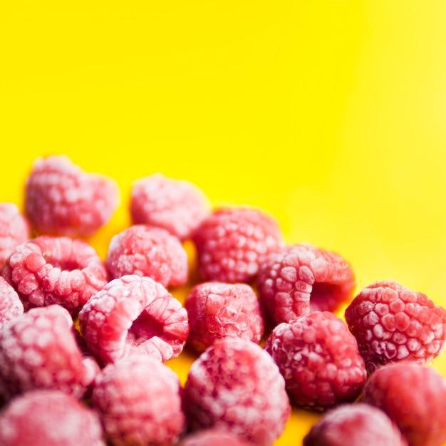 Frozen berries of raspberries Free Photo