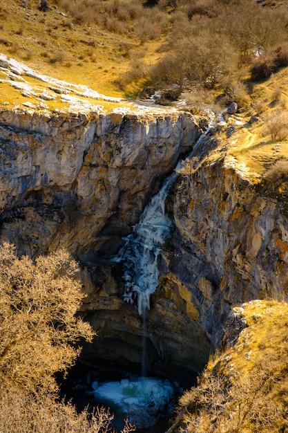 Frozen gollorio waterfall 3 Premium Photo