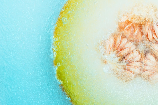 Frozen melon Free Photo