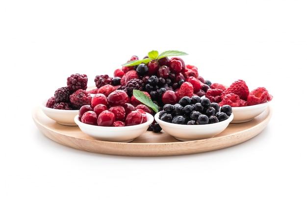 Frozen mixed berry Free Photo