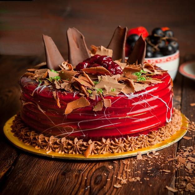 チョコレートチップとブルーベリーのフルーツケーキ 無料写真